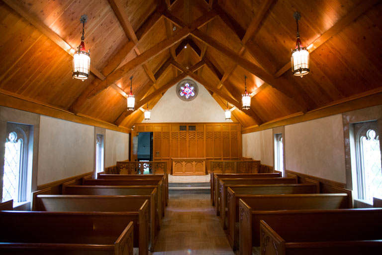The interior of Beck Chapel