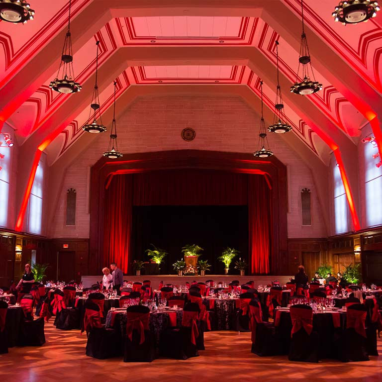 A formal event in Alumni Hall
