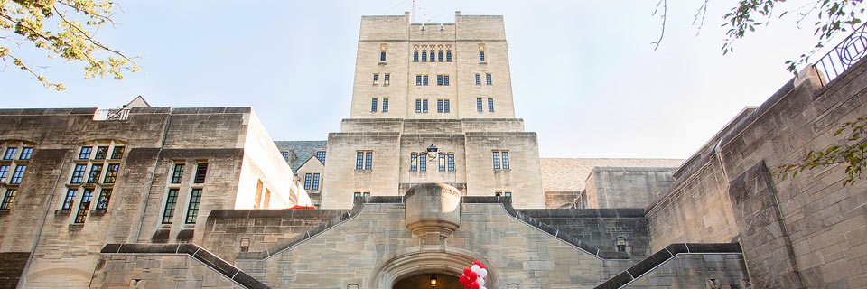 An exterior view of the Indiana Memorial Union