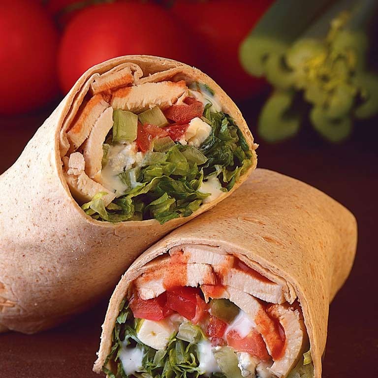 A turkey wrap